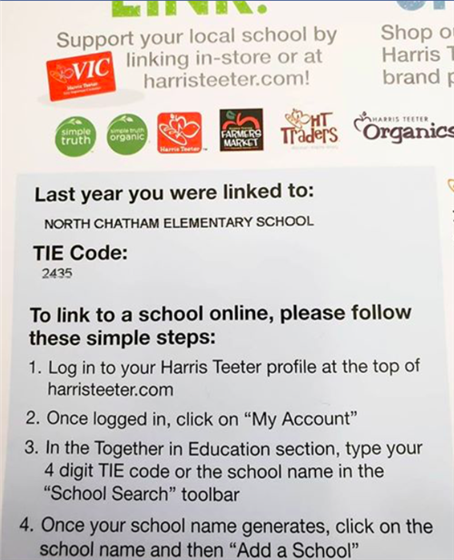 Link your Harris Teeter card